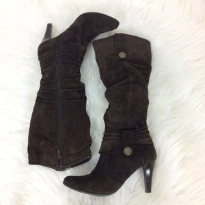 Blake Scott Shoes - Blake Scott Logan Knee High Slouch Leather Boots
